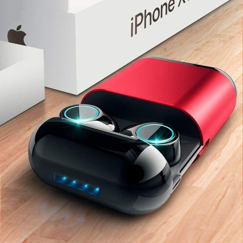 Bluetooth TWS Earbuds Wireless Earphones - Red - Smart Watches1