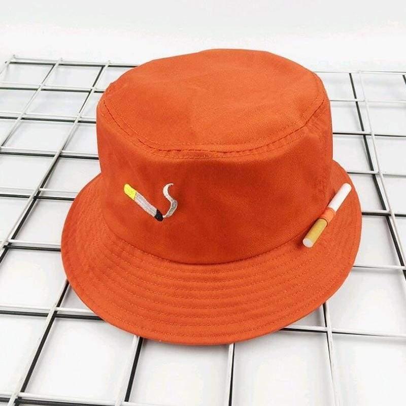 Bucket Cigarette Hat - orange - Bucket Hats