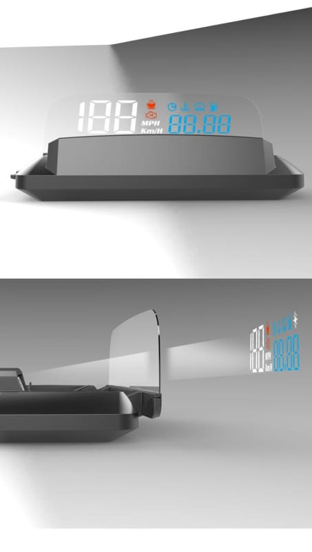 Car Head Up Display Just For You - Blue And OBD Cable - Car Accessories