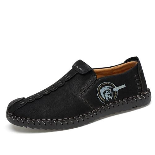 Casual Shoes Loafers Men Shoes - Black 01 / 6.5 - Leather Shoes