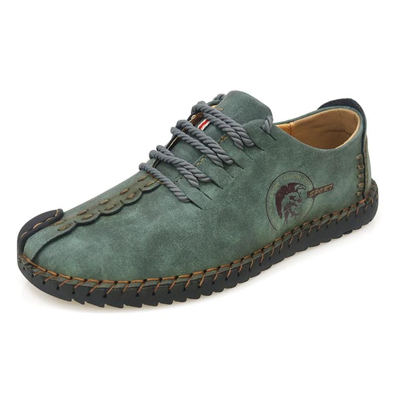Casual Shoes Loafers Men Shoes - Dark Green / 6.5 - Leather Shoes