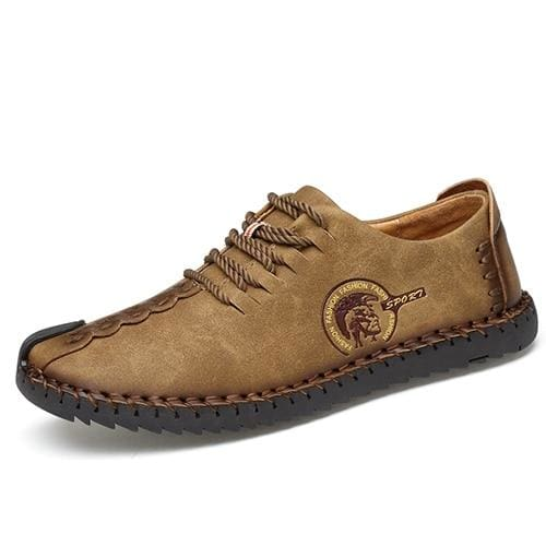 Casual Shoes Loafers Men Shoes - Khaki 02 / 6.5 - Leather Shoes
