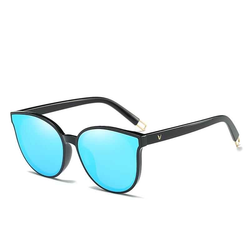 Cat Eye Sunglasses Elegant - 1700 black blue - Sunglasses