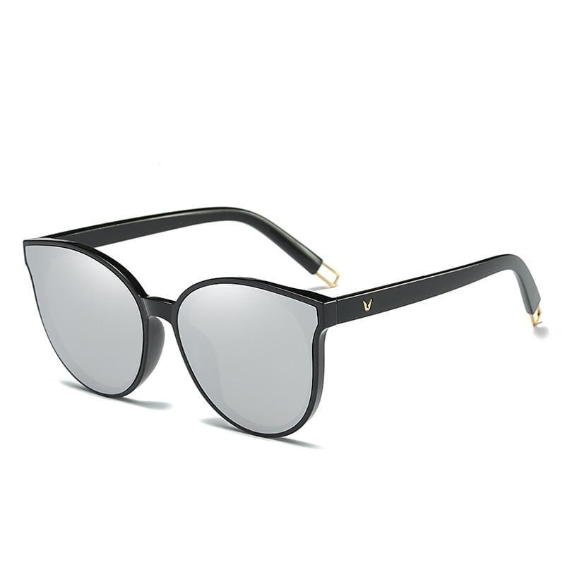 Cat Eye Sunglasses Elegant - 1700 black silvier - Sunglasses