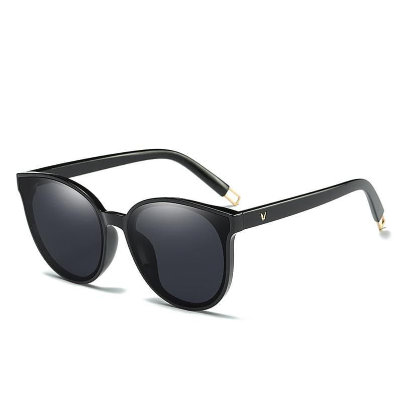 Cat Eye Sunglasses Elegant - 1700 black black - Sunglasses