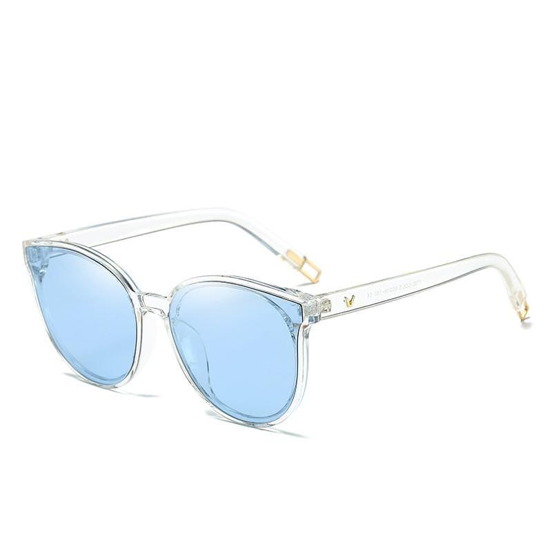 Cat Eye Sunglasses Elegant - 1700 blue clear - Sunglasses