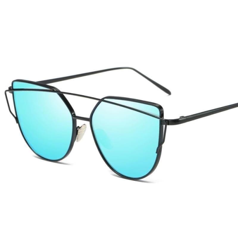 Cat Eye vintage Sunglasses - 6627 black blue - Sunglasses