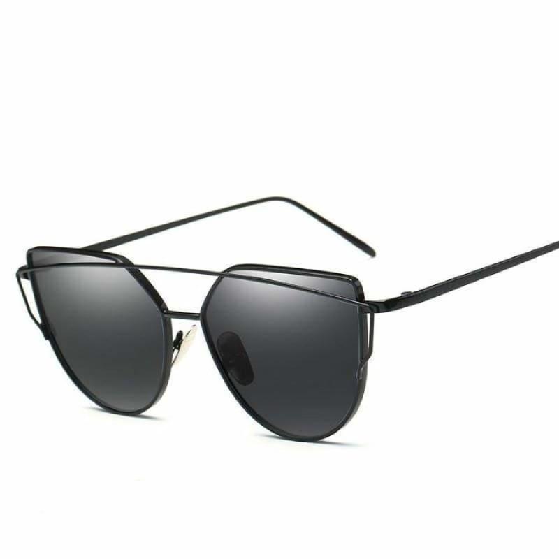 Cat Eye vintage Sunglasses - 6627 black black - Sunglasses