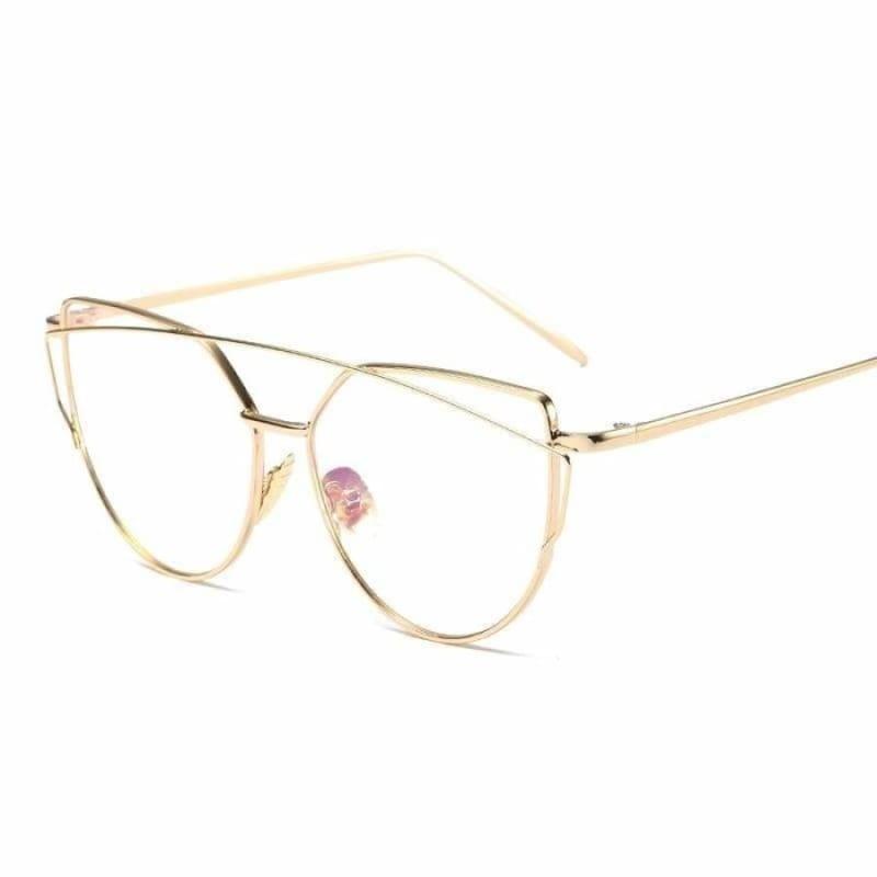 Cat Eye vintage Sunglasses - 6627 gold clear - Sunglasses