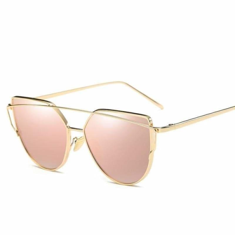 Cat Eye vintage Sunglasses - 6627 gold pink - Sunglasses