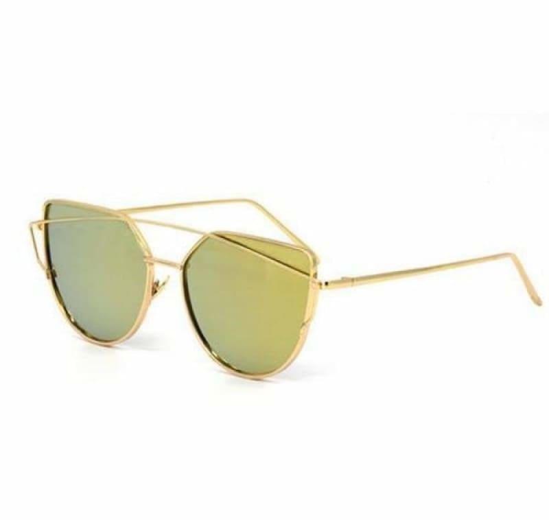 Cat Eye vintage Sunglasses - 6627 gold gold - Sunglasses