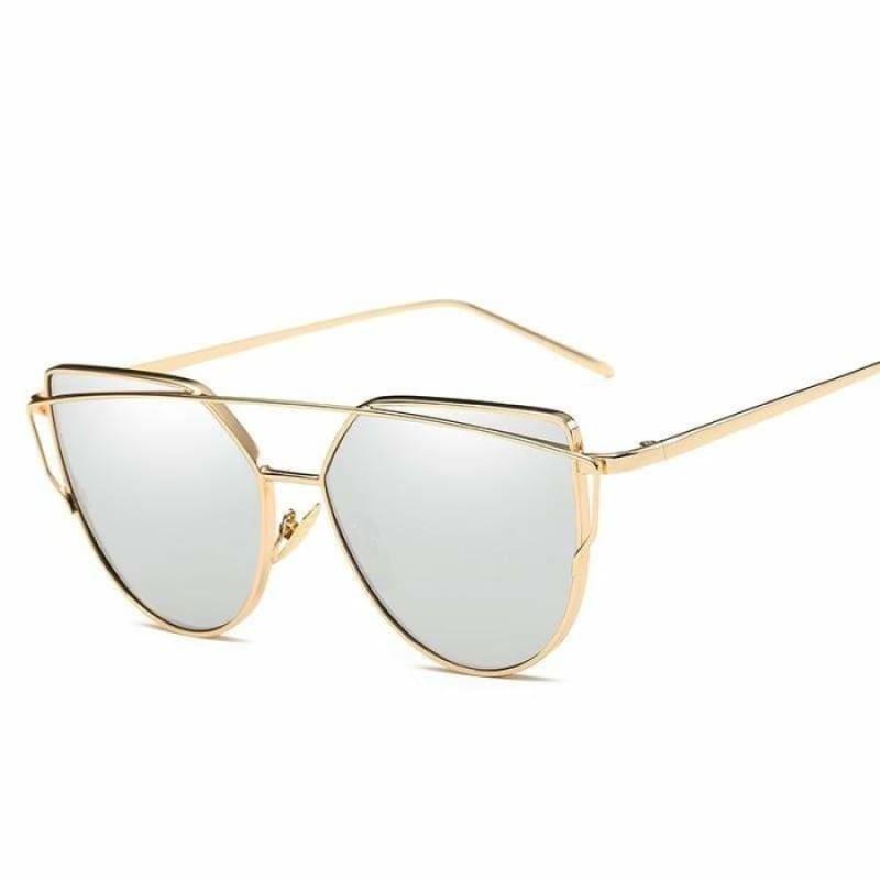 Cat Eye vintage Sunglasses - 6627 gold sliver - Sunglasses