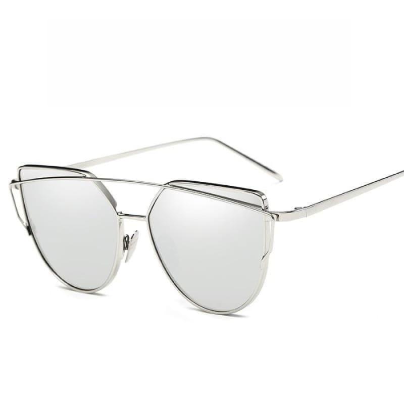 Cat Eye vintage Sunglasses - 6627 sliver sliver - Sunglasses