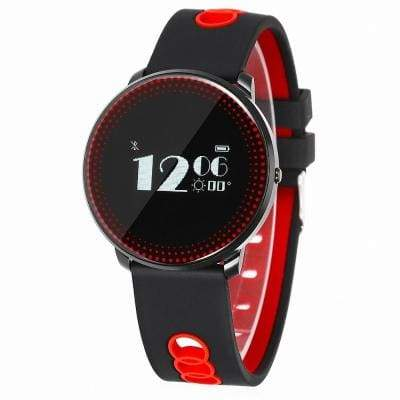 CF007 smart bracelet - Black And Red - Smart Wristbands