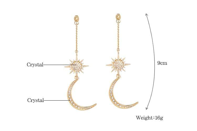 Charming Star Moon earrings - Stud Earrings