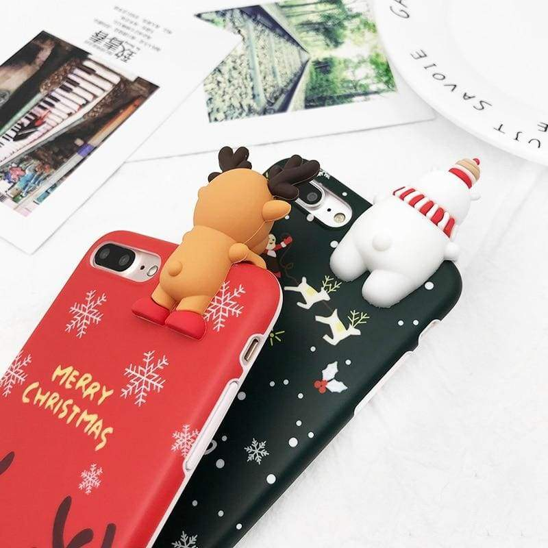Christmas Snowman Phone Case - Fitted Cases