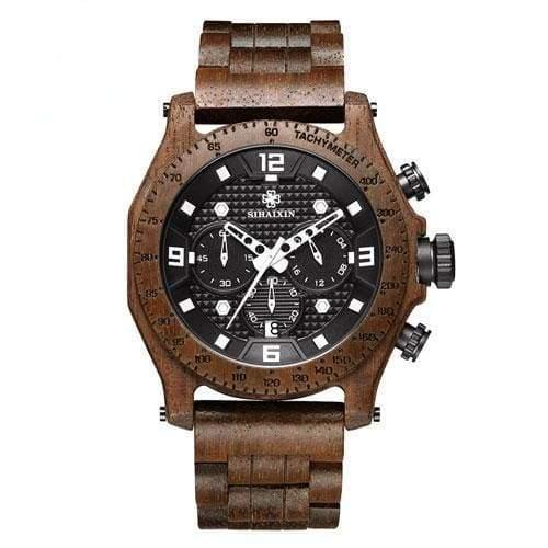 Chronograph Men Sports Wooden Watches - Other - Quartz Watches