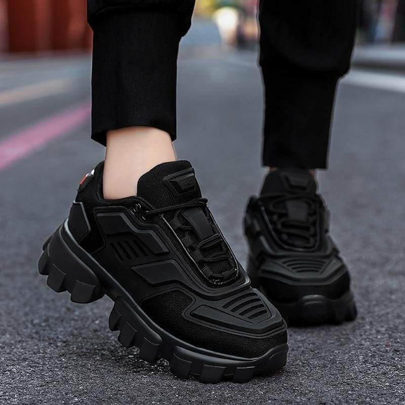 Chunky Trainers Footwear Breathable Shoes - black / 39 - Casual Shoes