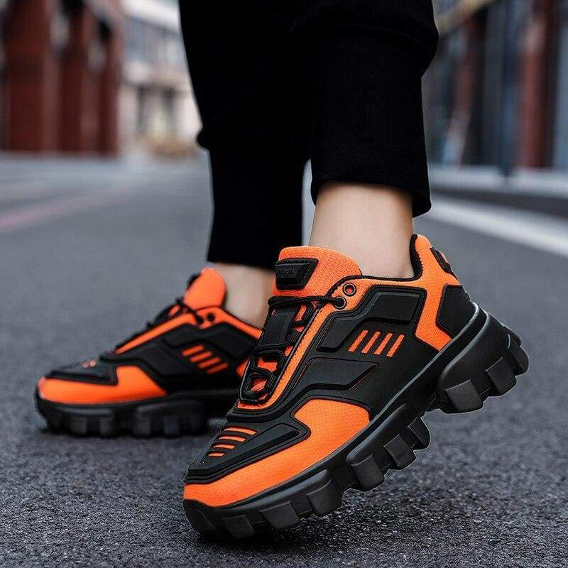 Chunky Trainers Footwear Breathable Shoes - orange / 38 - Casual Shoes