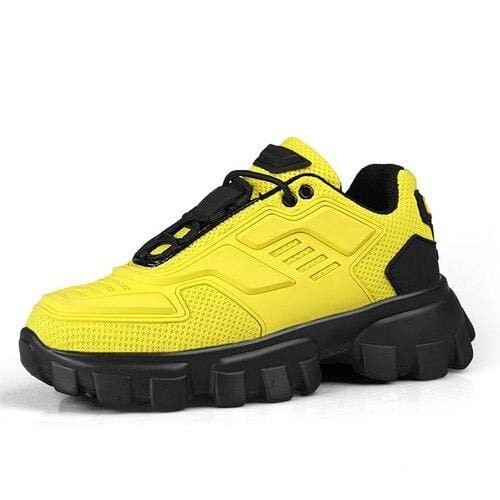 Chunky Trainers Footwear Breathable Shoes - yellow / 35 - Casual Shoes