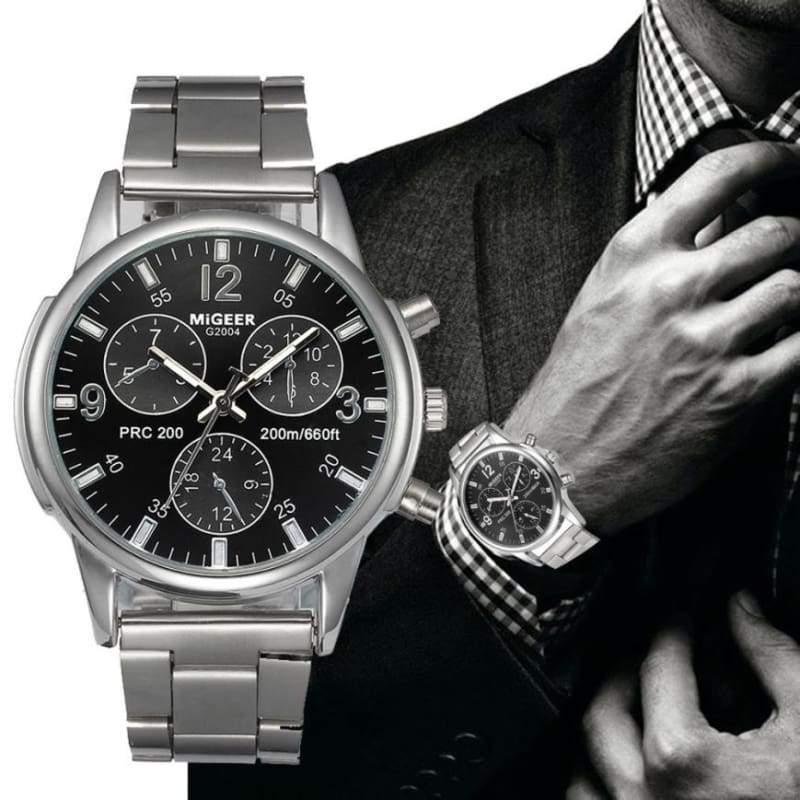 Classic wristwatch for men - Black - Quartz Watches