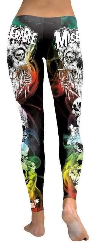 Colorful punk skull leggings - Leggings