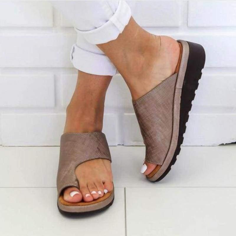 Comfy Platform Sandals - Khaki / 36 - Low Heels