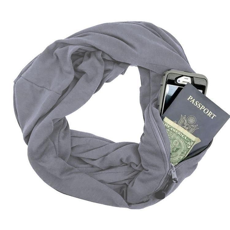 Convertible pocket scarf - Gray - Party DIY Decorations