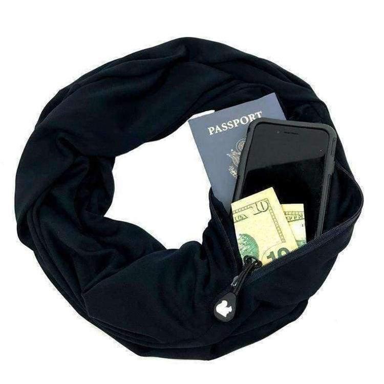 Convertible pocket scarf - Black - Party DIY Decorations