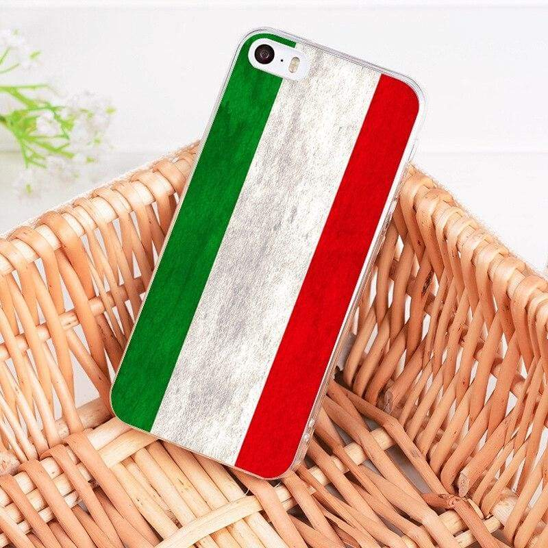 Country Flag iPhone Case - 2 / For iPhone 5 5s - Half-wrapped Case