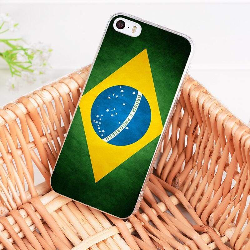 Country Flag iPhone Case - 3 / For iPhone 5 5s - Half-wrapped Case