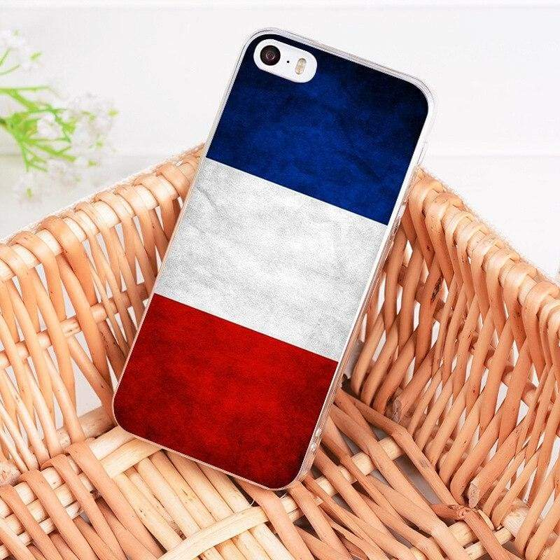 Country Flag iPhone Case - 5 / For iPhone 5 5s - Half-wrapped Case