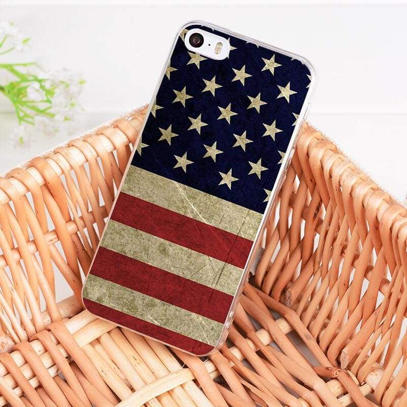 Country Flag iPhone Case - 8 / For iPhone 5 5s - Half-wrapped Case