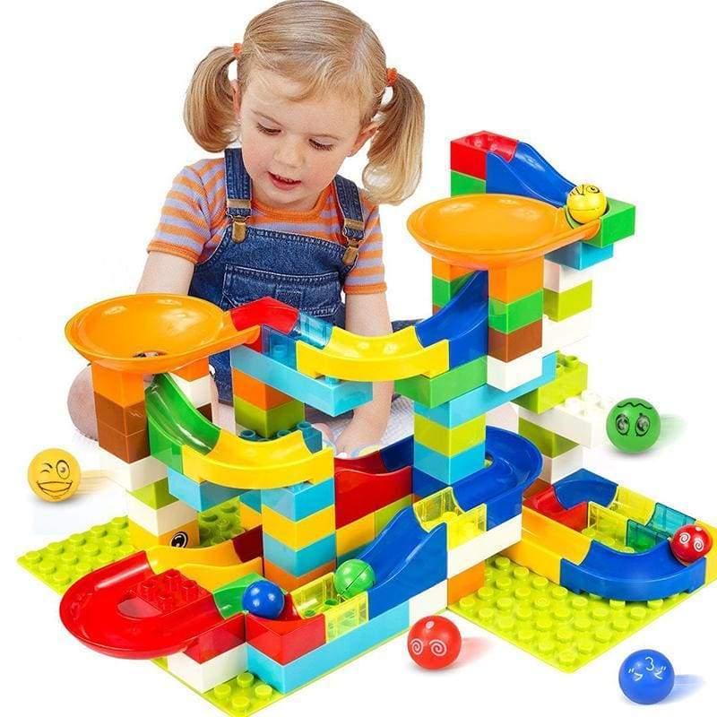 Crazy marble tracks for kids - 52PCS - Blocks