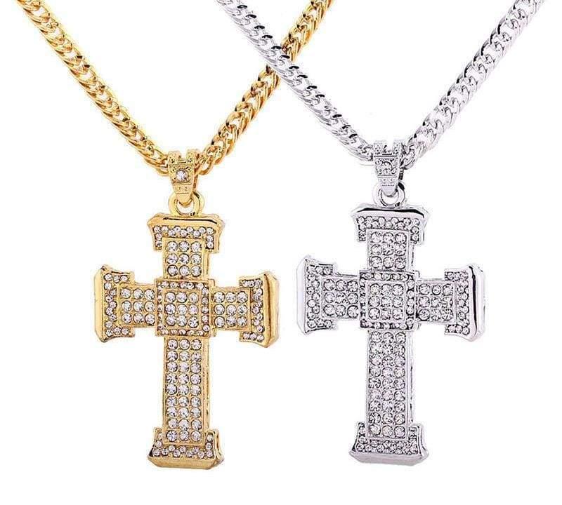 Crystal Cross Pendant - Pendant Necklaces