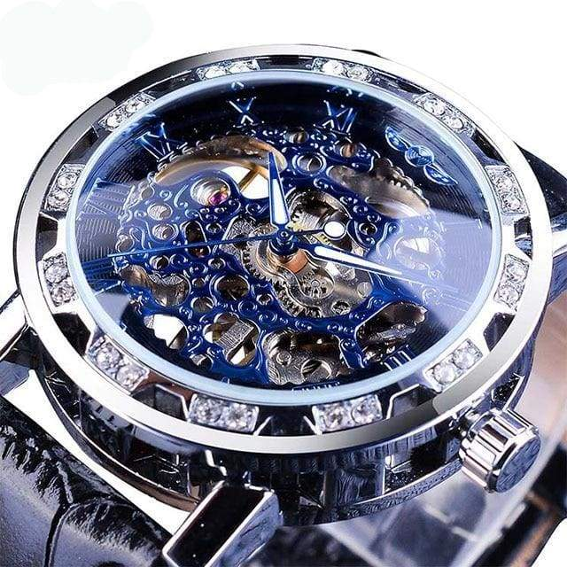 Diamond Mechanical Wrist Watch - Black - Mechanical Watches