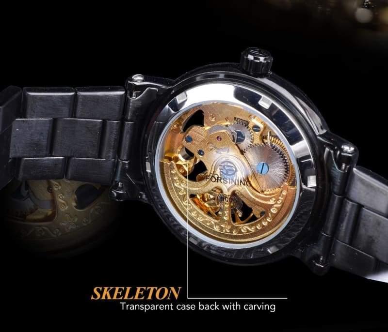 Diamond Mechanical Wrist Watch - Mechanical Watches