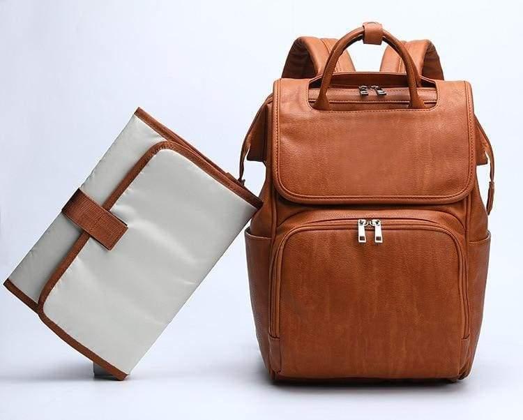 Diaper Bag For Small Baby - Brown - Diaper Bags