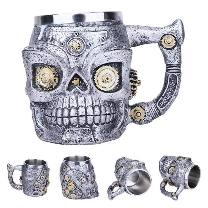 Retro Dragon Mug Skull - Gear - Mugs