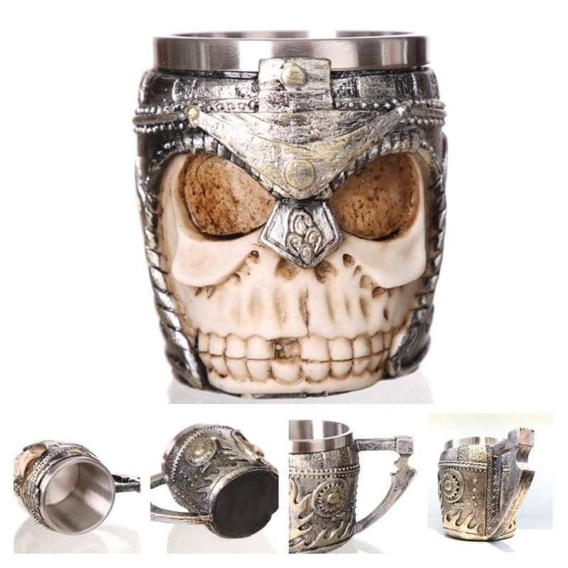 Retro Dragon Mug Skull - Helmet Knight - Mugs