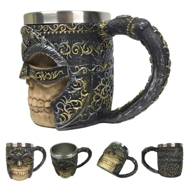 Retro Dragon Mug Skull - Mask Knight - Mugs