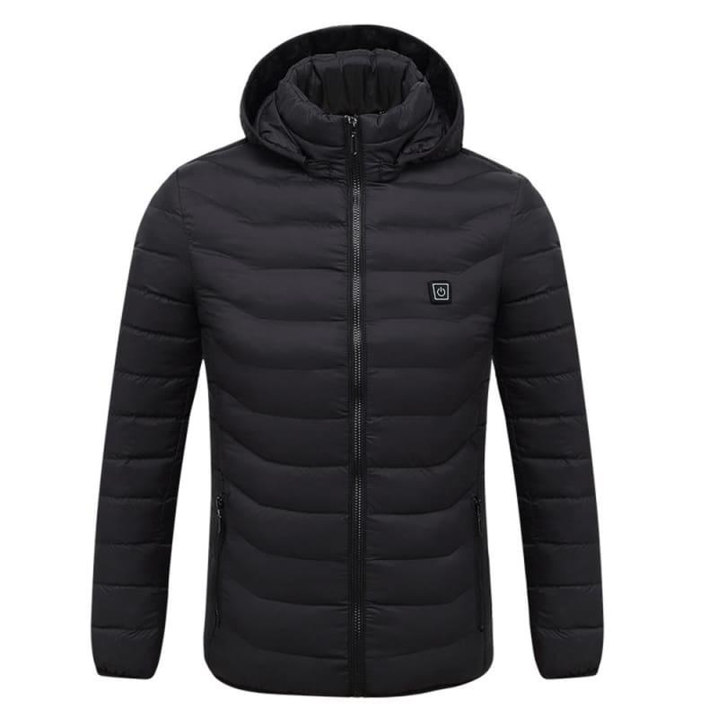 Electric Heated Jacket Vest Womens Mens - Black / L - Electric Heated Jacket Vest Womens Mens