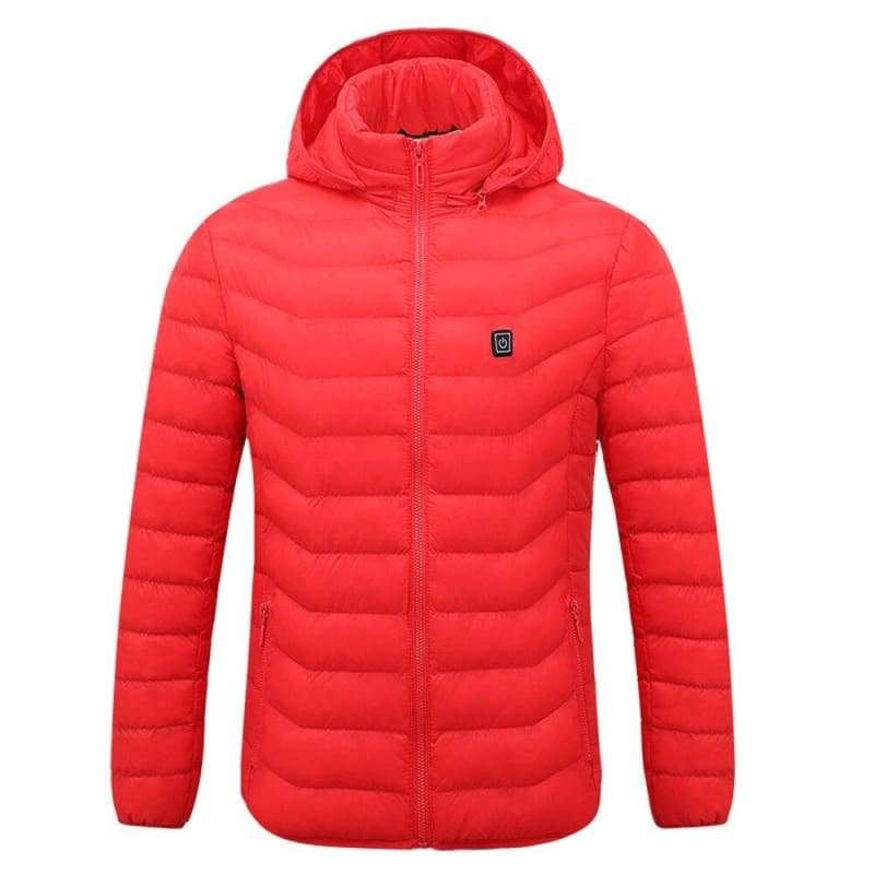 Electric Heated Jacket Vest Womens Mens - Red / L - Electric Heated Jacket Vest Womens Mens
