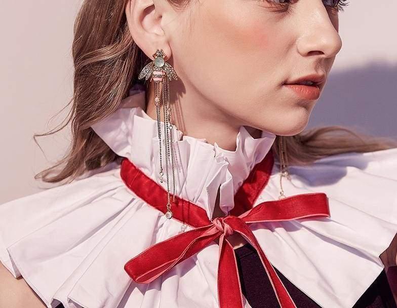 Exquisite Crystal Bee Earrings - Multicolour - Drop Earrings