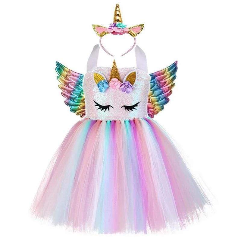 Fairy Dress Outfit For Girls - style-A / 24M - Halloween Party Dress