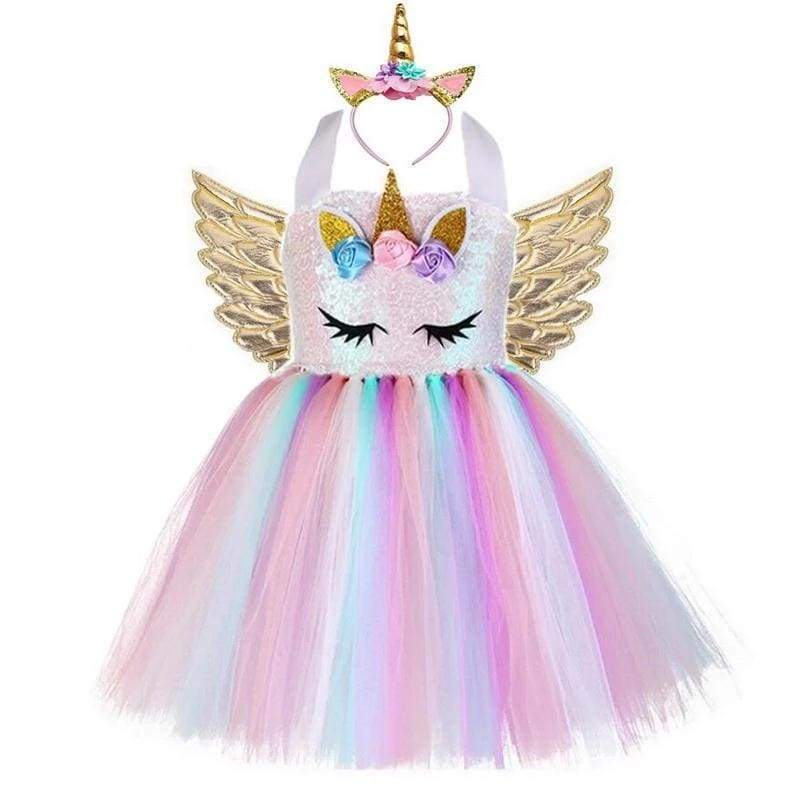 Fairy Dress Outfit For Girls - style-B / 24M - Halloween Party Dress