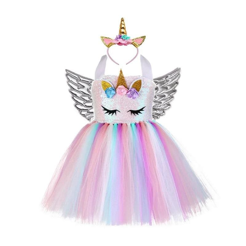 Fairy Dress Outfit For Girls - style-E / 24M - Halloween Party Dress