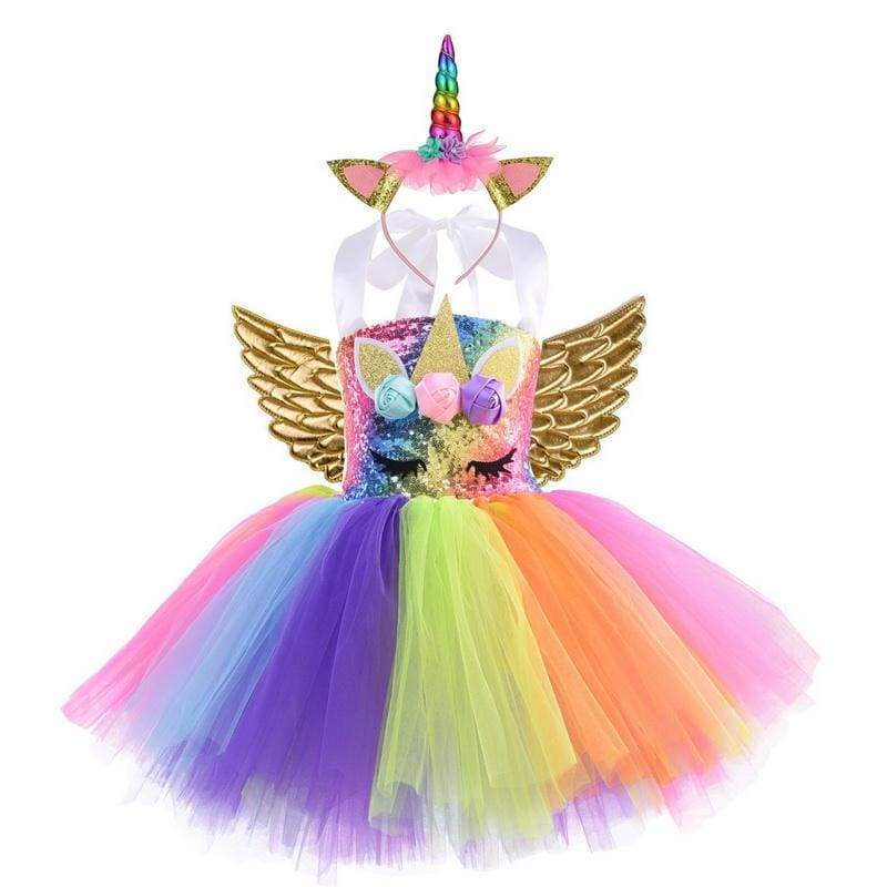 Fairy Dress Outfit For Girls - style-G / 24M - Halloween Party Dress