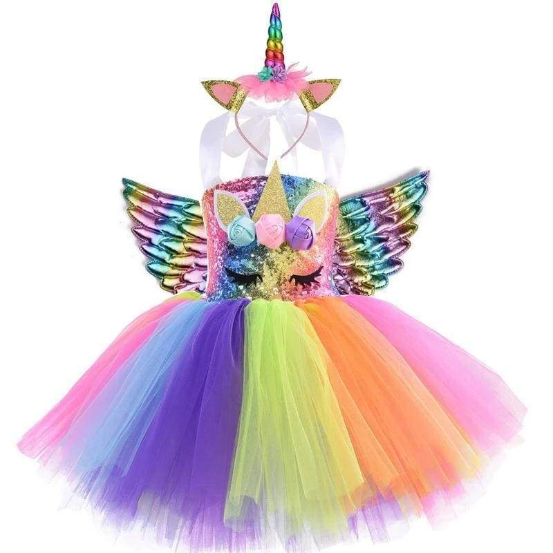 Fairy Dress Outfit For Girls - style-H / 24M - Halloween Party Dress