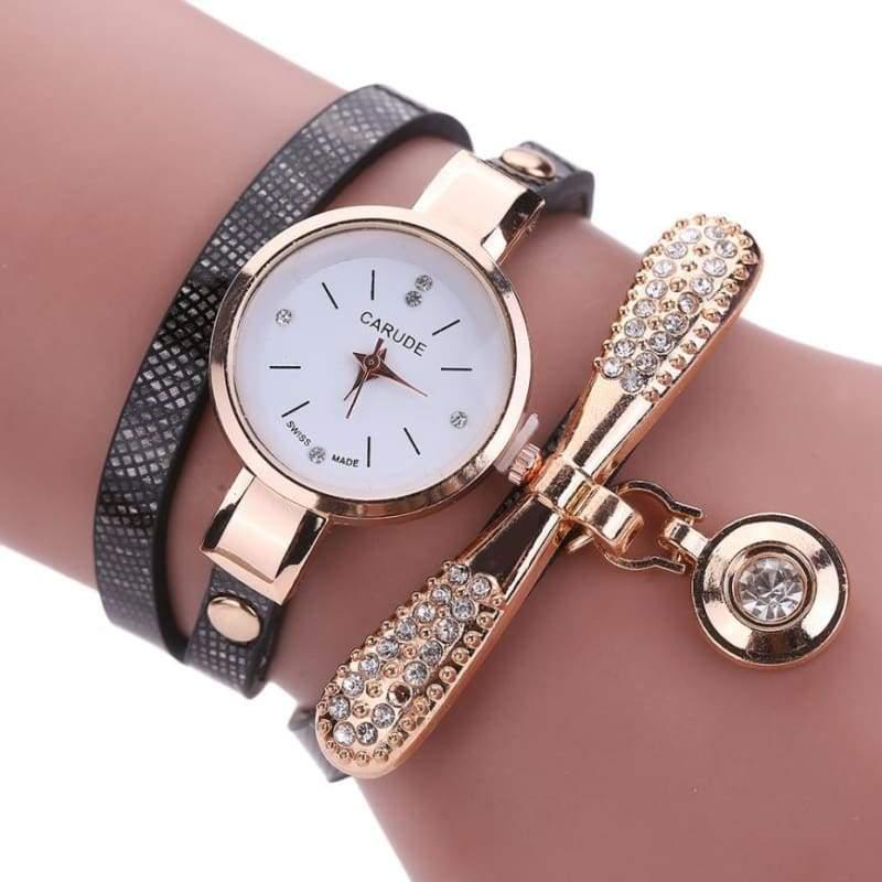 Fashion Bracelet Watch - Black - Womens Watches
